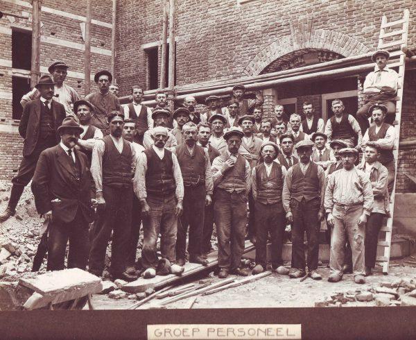 Groep bouwpersoneel