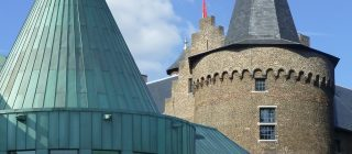 Fotocombinatie van Museum Helmond en Kasteel Helmond.