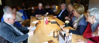 Foto van de mensen van de reis- en activiteitencommissie.