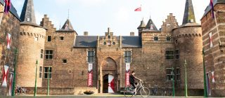 Het stadskasteel in de binnenstad van Helmond.