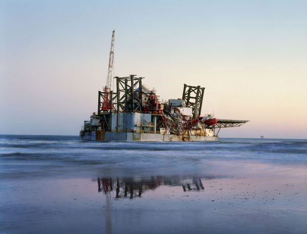Olieplatform in zee
