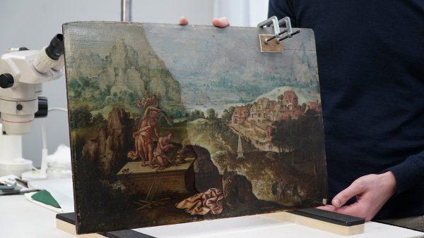 Schilderij met het offer van Abraham